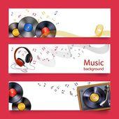 Vinyl record music banners
