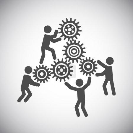 Gear teamwork concept