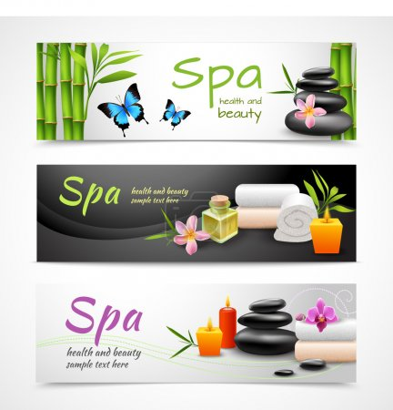 Realistic spa banners