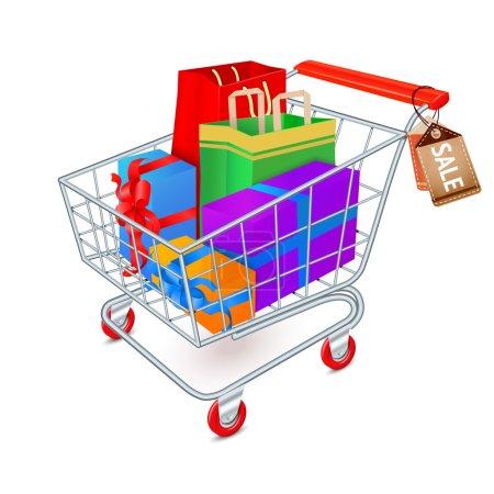 Shopping cart full emblem