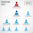 Organizational chart infographic business hierarch...