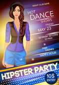 Night club hipster party poster