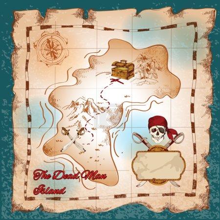 Pirates treasure map
