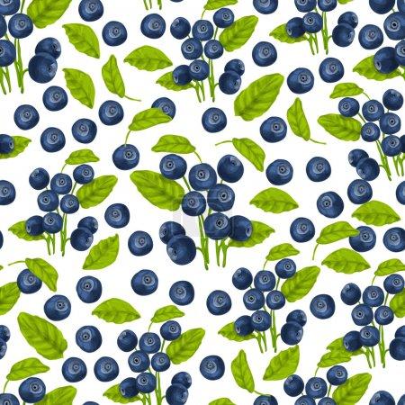 Blueberry seamless pattern