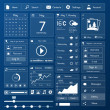 Flat user interface design template page menu and ...
