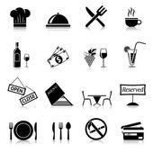 Restaurace ikony černé