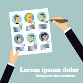 Business stuff selection poster