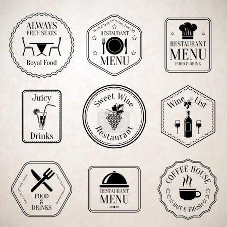 Restaurant menu labels black