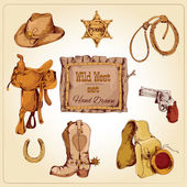 Wild west set colored