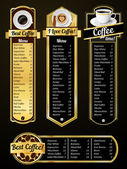 Coffee menu templates