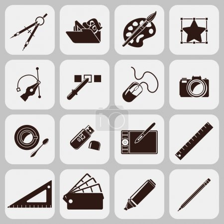 Designer Tools Black Icons