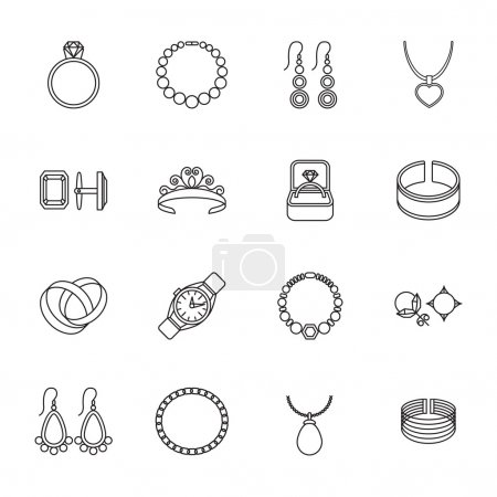 Jewelry icon outline