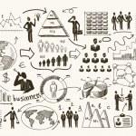 Sketch business organization management process pe...