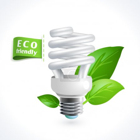 Illustration for Ecology and waste global environment recycling energy saving lightbulb symbol isolated on white background vector illustration - Royalty Free Image