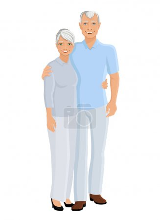 Senior couple full length