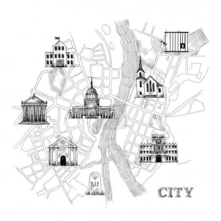Information city map
