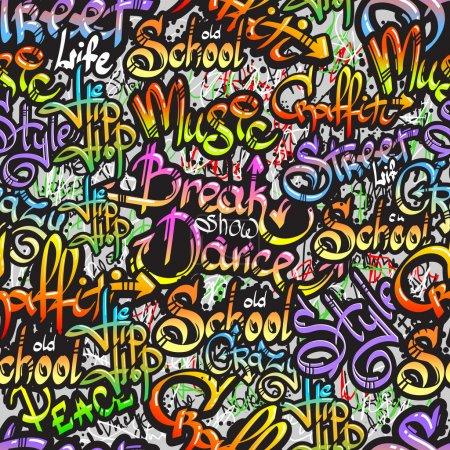 graffiti słowo wzór