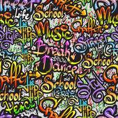Graffiti slovo bezešvé vzor