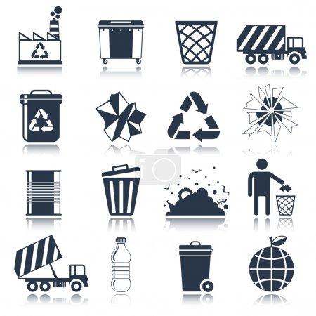 Garbage icons black