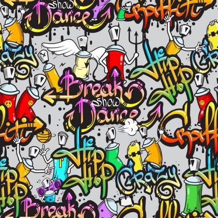 graffiti wzór znaków