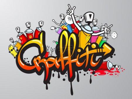 graffiti znaków wydruku