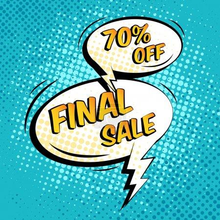 Illustration pour Vente finale spécial shopping offre discours bulle vector illustration - image libre de droit