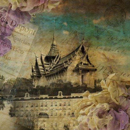 Sky castle, digital art painting