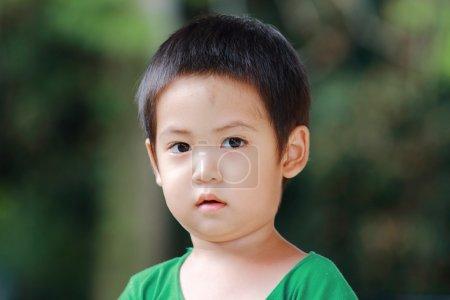 Portrait asian boy close up...