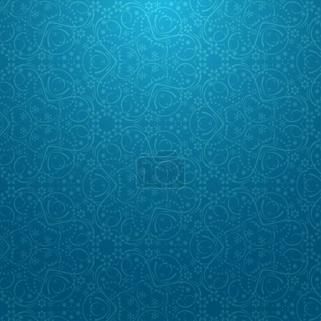 Illustration for Seamless blue pattern with snowflakes. Vector illustration - Royalty Free Image