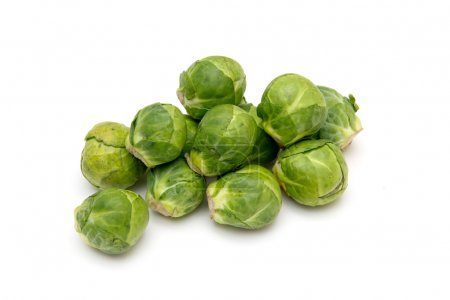 Photo for Brussels sprouts on white background - Royalty Free Image