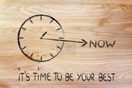 the time is now, be your best