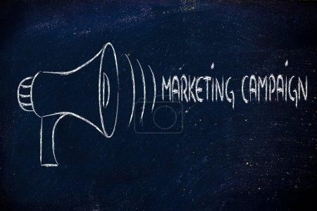 Photo pour Design mégaphone, métaphore de partage et de diffusion de votre message - image libre de droit