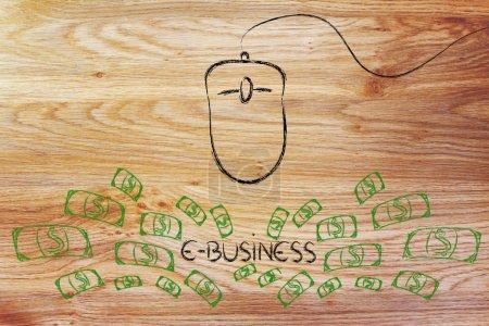 Photo pour Taux de clics et le coût par clic : une souris comme outil pour les gains - image libre de droit