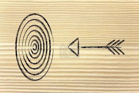 Photo pour Concept de choix du bon marché cible dans les entreprises - image libre de droit