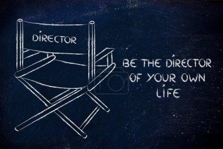 Photo pour Président du directeur - Soyez le directeur de votre propre vie - image libre de droit