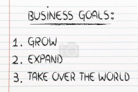 Photo pour Pasos para el éxito empresarial: crecer, expandir y apoderarse del mundo - image libre de droit