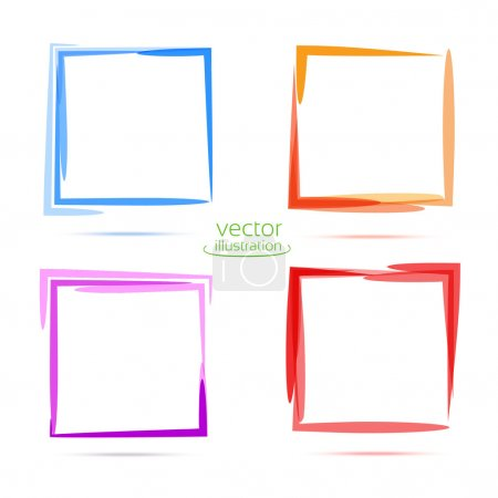 Illustration for Four squares for your business. Blue, orange, purple, red - Royalty Free Image