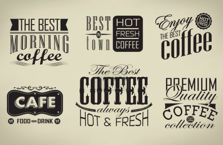 Set of coffee , cafe typographic elements