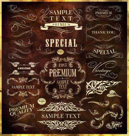 Illustration pour Éléments de conception calligraphique - image libre de droit