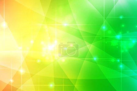 Photo pour Courbes vertes et jaunes fond abstrait - image libre de droit