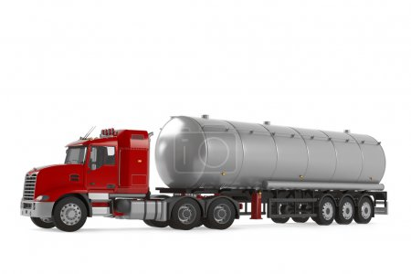 Fuel gas tanker truck isolated