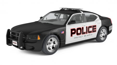 Police car. Sport and modern style.