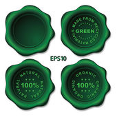 Stylish green vector wax seal