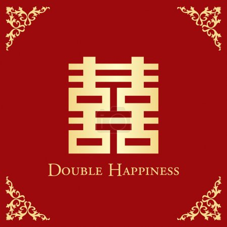Shuang Xi Character means Double Happiness, an orn...