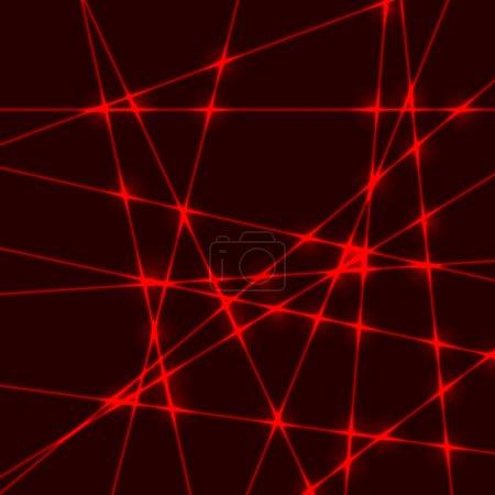 red laser light beam