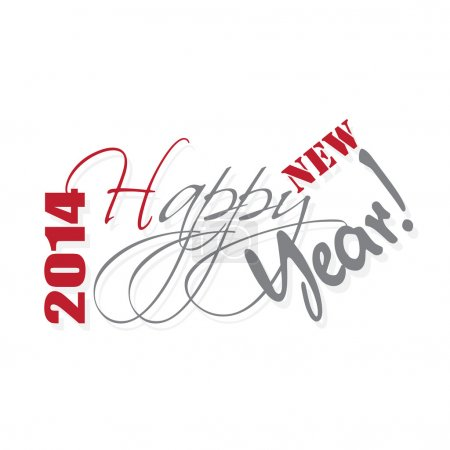 Happy new year hand letterin