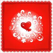 Srdce Valentýn pozadí nebo karta
