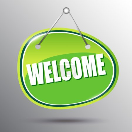 Illustration for Welcome hanging sign. Vector eps 10 illustration. - Royalty Free Image