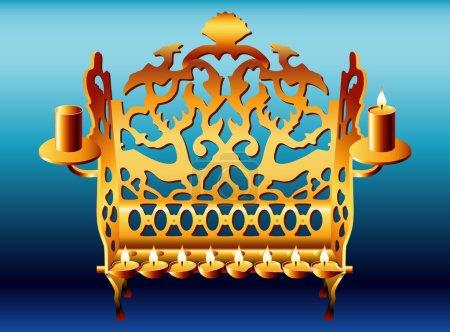 18th Century Poland Hanukkah Menorah.