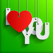 I LOVE YOU - Paper Origami background or card